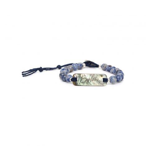 sodalite & blacklip bracelet Explore