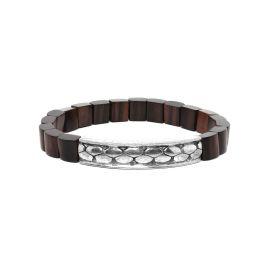 black wood men bracelet Pattern - Nature Bijoux