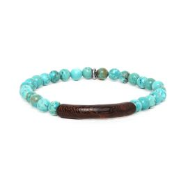 turquoise howlite stretch men bracelet Tube - Nature Bijoux