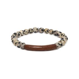 dalmatian jasper stretch men bracelet Tube - Nature Bijoux