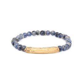 sodalite stretch men bracelet Tube - Nature Bijoux