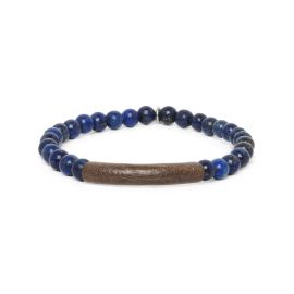 lapis stretch men bracelet Tube - Nature Bijoux
