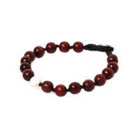 white howlite men bracelet Bouton - Nature Bijoux