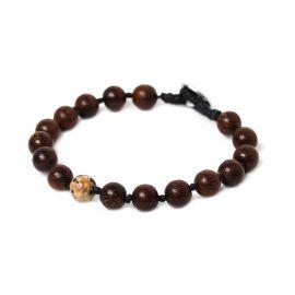 dalmatian jasper men bracelet Bouton - Nature Bijoux