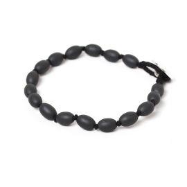 small olive beads men bracelets Hematite - Nature Bijoux