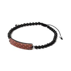 brown men bracelet Serpent - Nature Bijoux