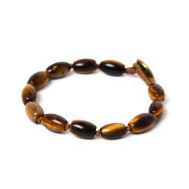 barrel men bracelet Tiger eye - Nature Bijoux