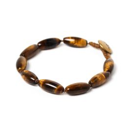 olives men bracelet Tiger eye - Nature Bijoux