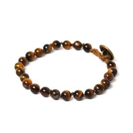 bead 6mm men bracelet Tiger eye - Nature Bijoux