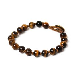 bead 8mm men bracelet Tiger eye - Nature Bijoux