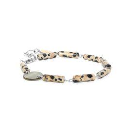 dalmatian jasper bracelet Looping - Nature Bijoux