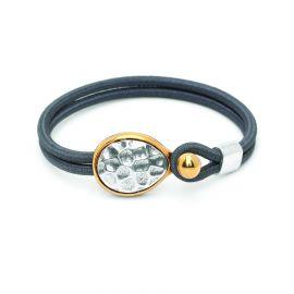 "bracelet sandow ""martelé"" Empreintes - Ori Tao"