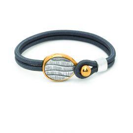 """bracelet sandow """"courbes"""" Empreintes - Ori Tao"""