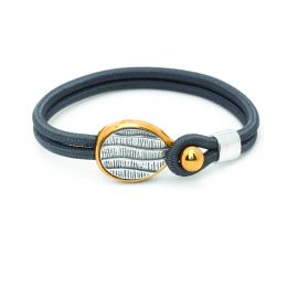 "sandow bracelet ""curves lines"" Empreintes - Ori Tao"