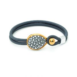 "bracelet sandow ""galuchat"" Empreintes - Ori Tao"
