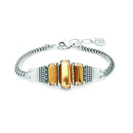 bracelet 3 cabochons dorés Diam's - Ori Tao