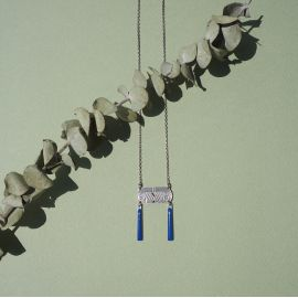 Short Blue Tiger Eye Necklace - Amélie Blaise