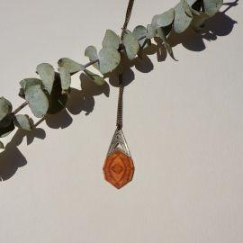 KALEIDOSCOPE orange wood necklace - Amélie Blaise