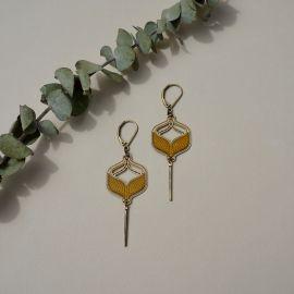 TOHU BOHU wood earrings - Amélie Blaise