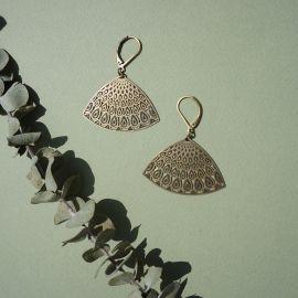 Boucles d'oreilles dormeuses PANACHE bronze - Amélie Blaise