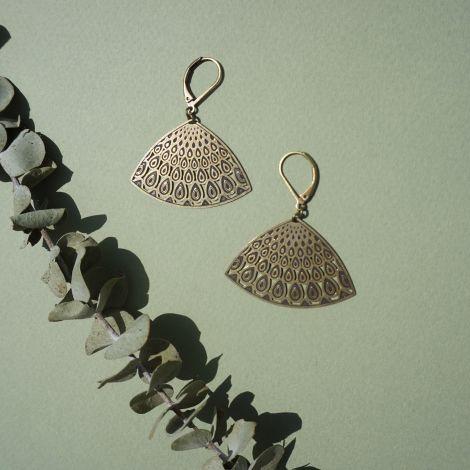 Boucles d'oreilles dormeuses PANACHE bronze