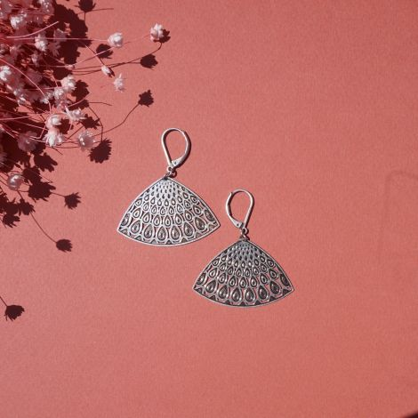 PANACHE sleeper earrings in patinated silver
