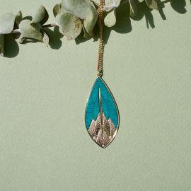 PHYSALIS green wood necklace - Amélie Blaise