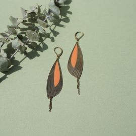 Nacarat Pétales earrings - Amélie Blaise