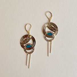 Mechanical metal earrings Céleste - Amélie Blaise