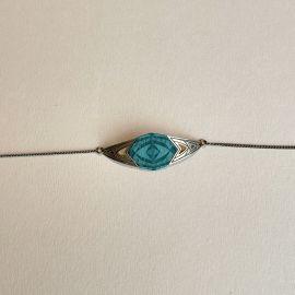 Bracelet Kaléidoscope bleu lagon - Amélie Blaise