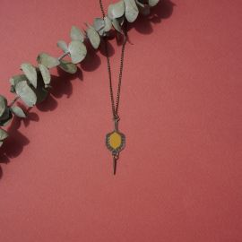 TOHU-BOHU short necklace amber - Amélie Blaise