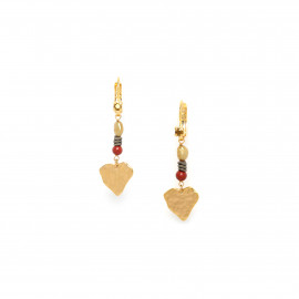 hook earring with pendant heart Amor - Franck Herval