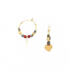 boucles d'oreilles créoles pendentif coeur doré à l'or fin Amor - Franck Herval