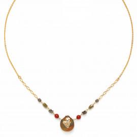 collier perle orné de son coeur Amor - Franck Herval