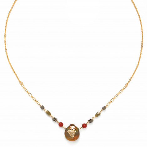 pearl disc necklace Amor