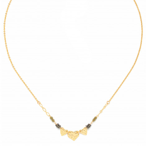 3 hearts necklace Amor