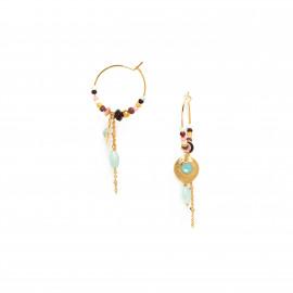 boucles d'oreilles petites créoles à pampilles Helen - Franck Herval