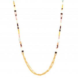collier 2 en 1 - collier long ou bracelet 4 tours Helen - Franck Herval