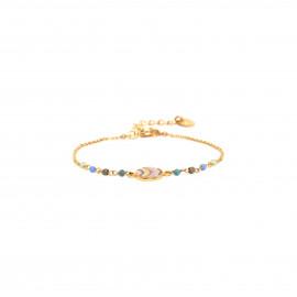 bracelet fin médaillon peint à la main Jahia - Franck Herval