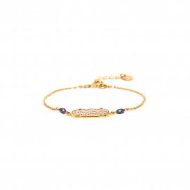 bracelet simple élément oval peint à la main Jahia - Franck Herval