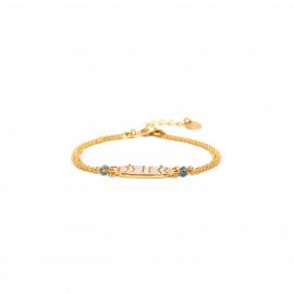 bracelet 3 rangs Nacre peinte à la main Jahia - Franck Herval