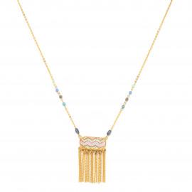 collier pendentif peint à la main et frange de chaines Jahia - Franck Herval