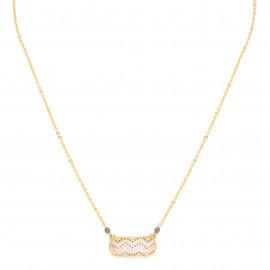 oval thin necklace Jahia - Franck Herval