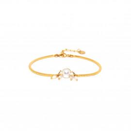 bracelet semi rigide cabochon perle de d'eau douce Maria - Franck Herval