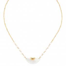 collier demi cercle nacre blanche Maria - Franck Herval