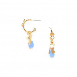boucles d'oreilles poussoir petites créoles Mya - Franck Herval