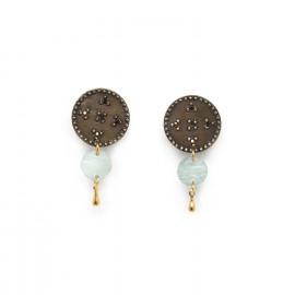 boucles d'oreilles clips bleus Scarlett - Franck Herval