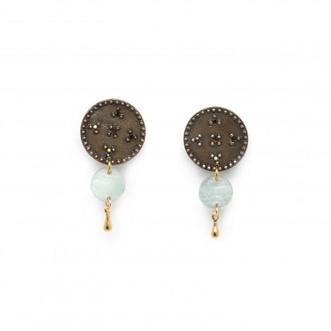 disc clip earring (blue) Scarlett