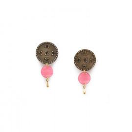 boucles d'oreilles clips roses Scarlett - Franck Herval