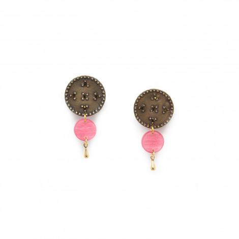disc clip earring (pink) Scarlett